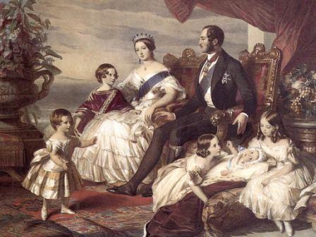 Королева Виктория с супругом и детьми