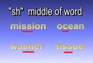 Английское произношение. Произношение буквосочетания SH. Звук [ ʃ ]