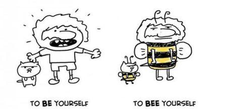 Омофоны в английском языке - bee & be