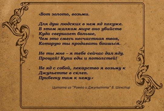 Вильям Шекспир. Крылатые фразы