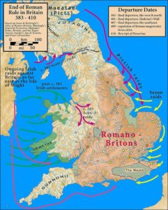 The history of the Roman Britain in short the map
