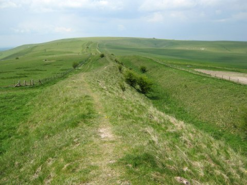 A photo of Wansdyke. The Anglo-Saxon period in the history of Great Britain