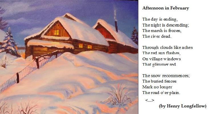 Стихи про зиму на английском языке с переводом
